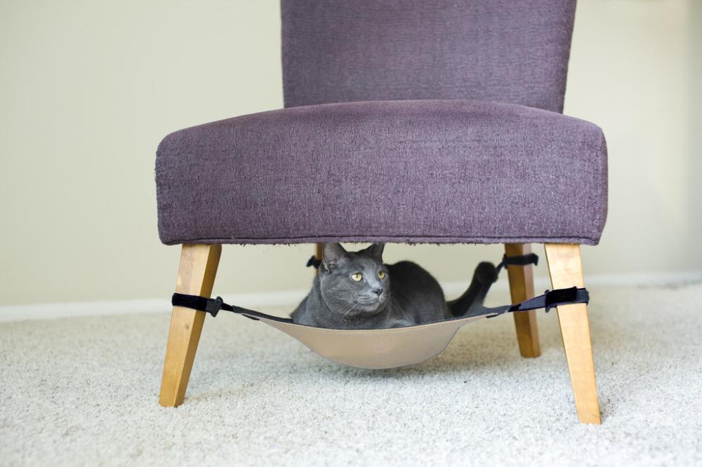 under seat cat hammocks 10 diy ideas for cat lovers  u0026 small spaces   iag  rh   ingeniousassetgroup